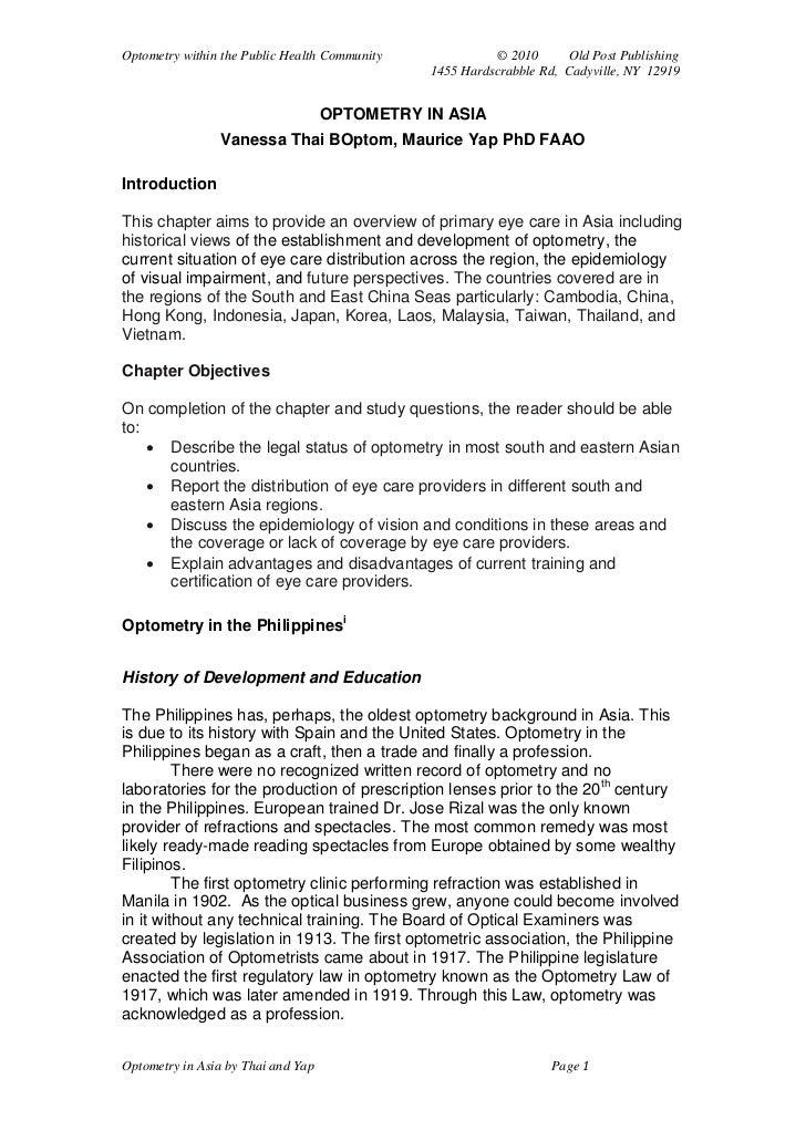 Optometry cover letter – Optometry Cover Letter