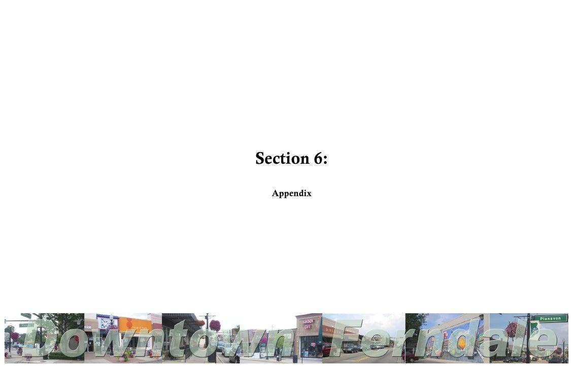 Section 6:  Appendix