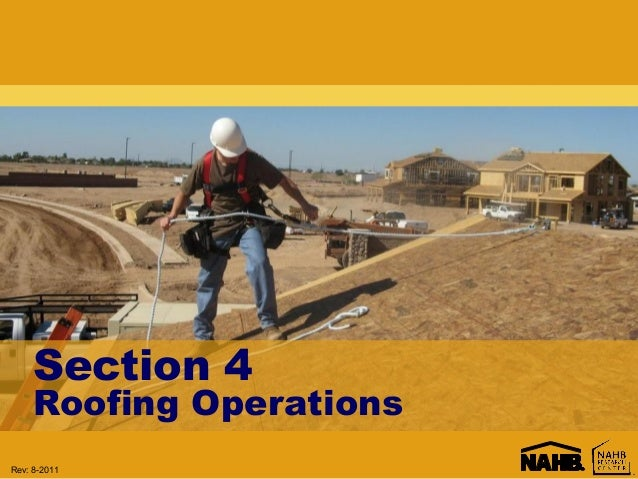Roofing Operations & Aerial Lifts Training by NAHB