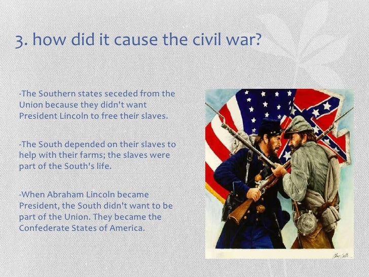 slavery cause for civil war