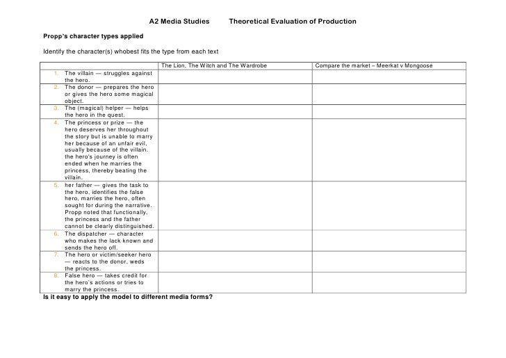 Section A Narrative Worksheet