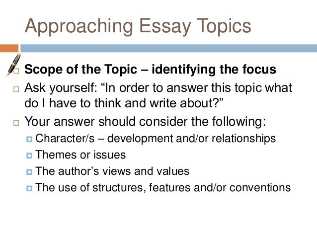 writing an admission essay structure