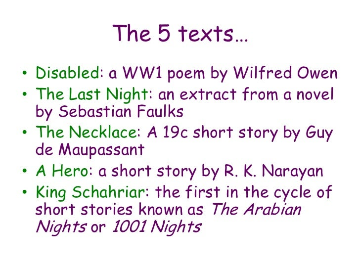 Short story name ideas (for coursework)?