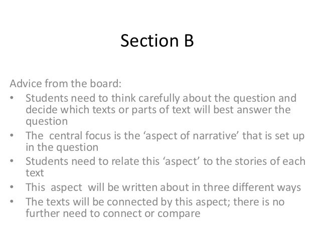 Section BAdvice from the board:• Students need to think carefully about the question and   decide which texts or parts of ...
