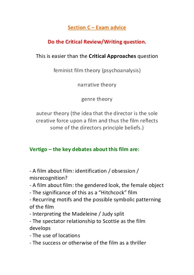 Section c – exam advice
