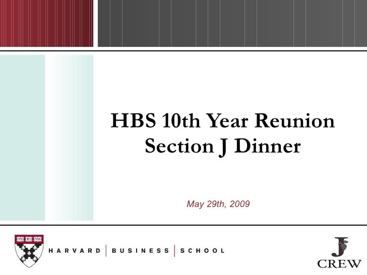 HBS 10th Year Reunion Section J Dinner May 29th, 2009 146 42 52 90 151 178 95 231 252 255 205 122 196 184 122 196 184