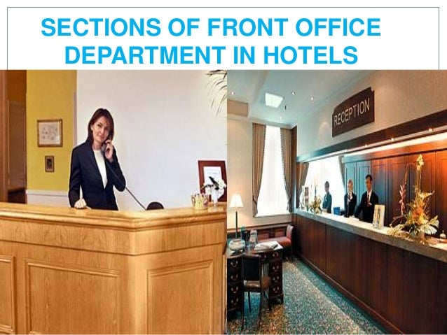 different departments in a hotel and its function pdf