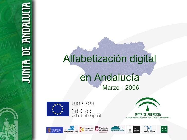 Alfabetización digital en Andalucía Marzo - 2006