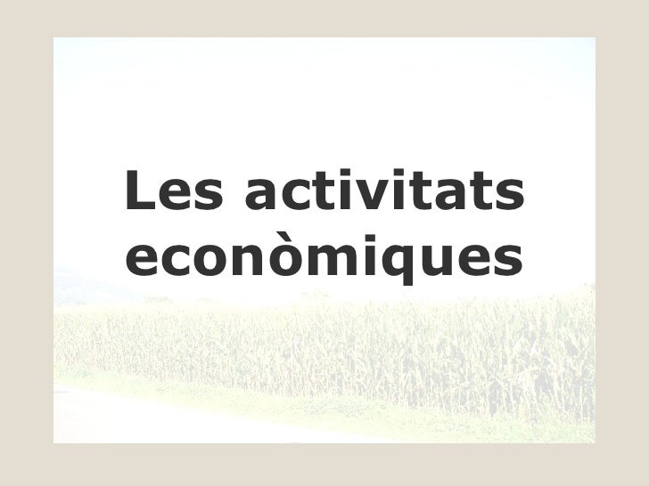 Les activitats econòmiques