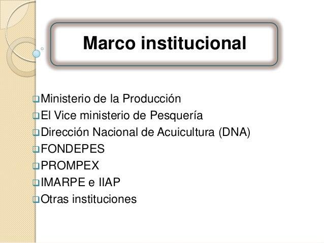 Sector acuicultura for Ministerio de pesqueria