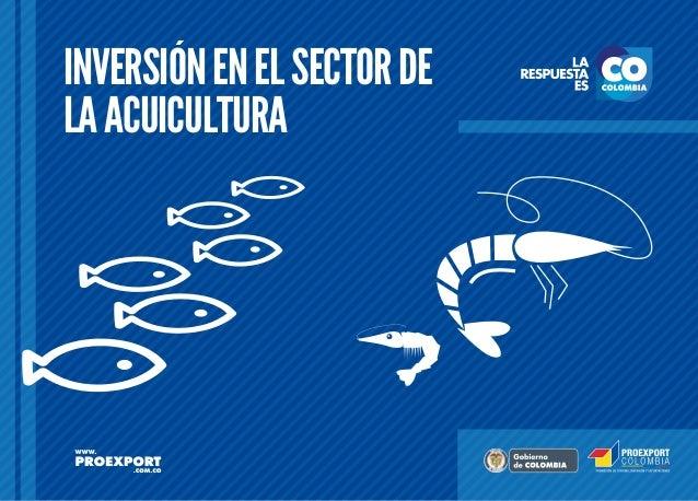 Inversión en el Sector de la Acuicultura