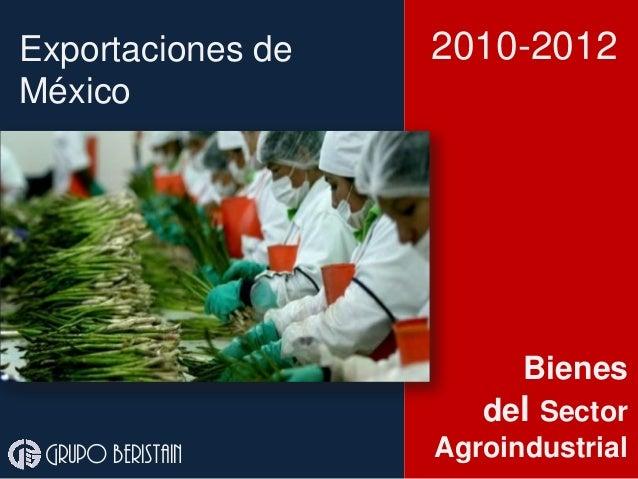 Exportaciones agroindustria México