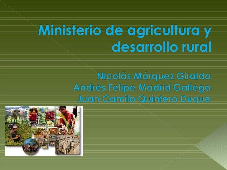 Sector agropecuario en Colombia