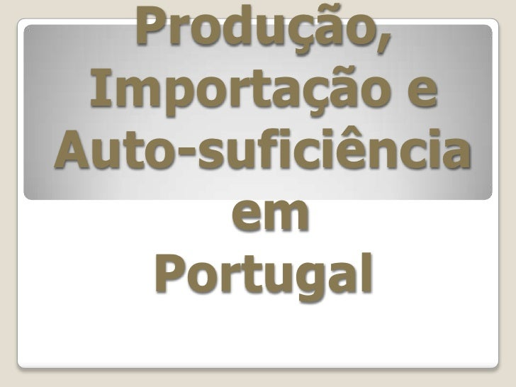 Sector Alimentar Em Portugal