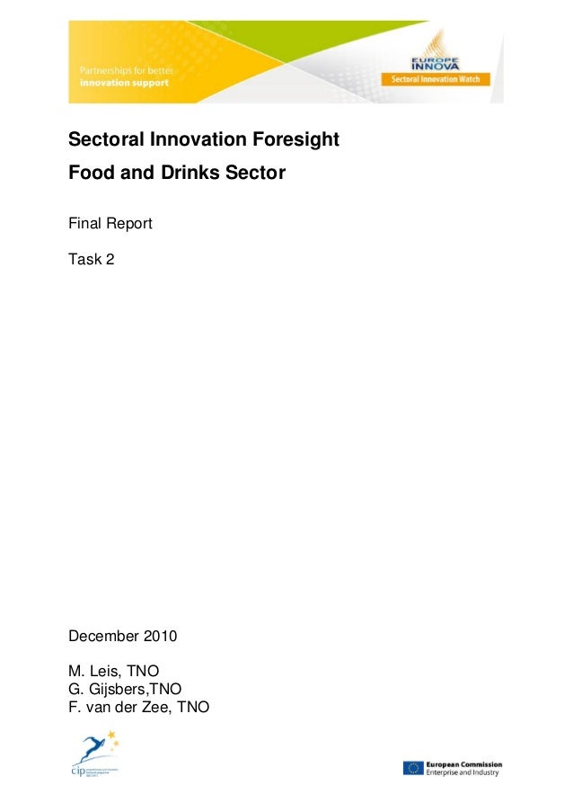 Sectoral innovation foresight