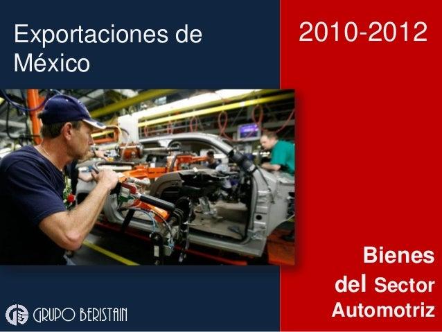 Exportaciones autopartes México