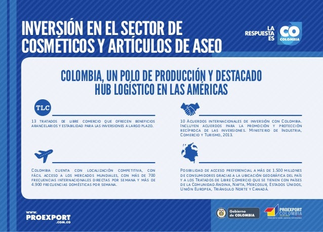 Inversión en el sector Cosméticos y Artículos de Aseo