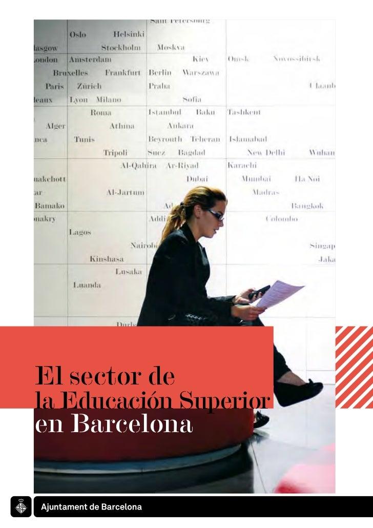 El sector dela Educación Superioren Barcelona