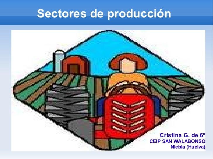 Sectores de producción                      Cristina G. de 6º                  CEIP SAN WALABONSO                         ...