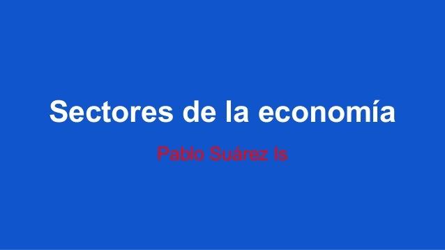Sectores de la economía Pablo Suárez Is