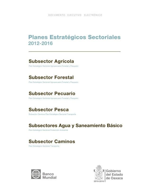 PLANES ESTRATÉGICOS SECTORIALES