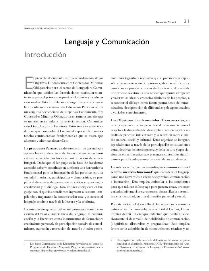 Formación General       31LeNGUAje y COMUNICACIóN introducción                                 Lenguaje y ComunicaciónIntr...
