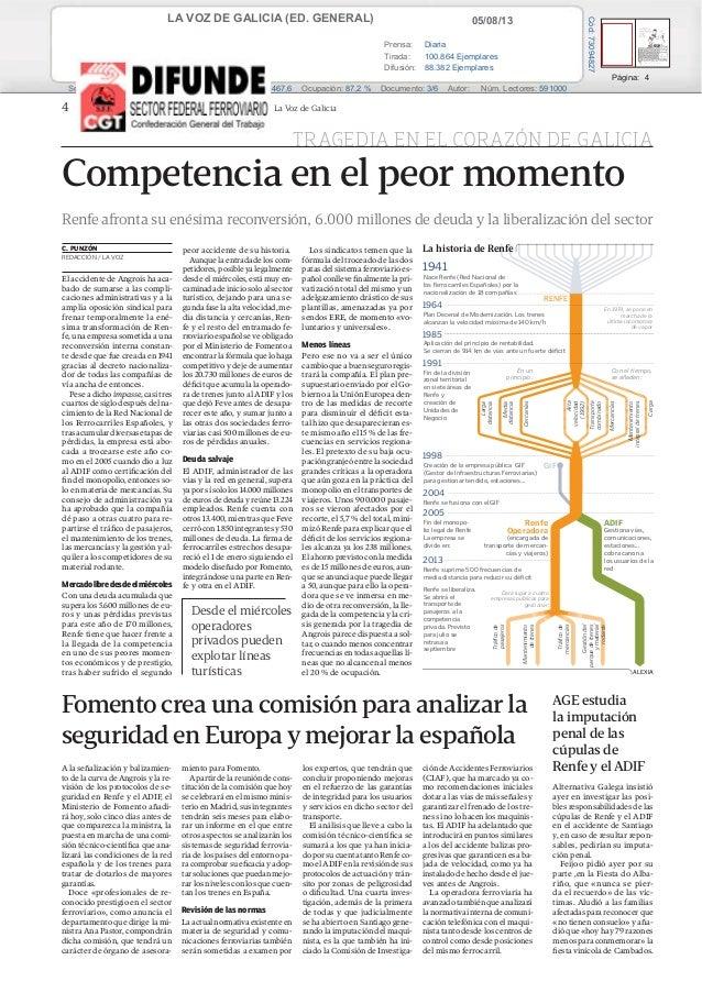 (Sector) recortes de prensa 05 08-2013