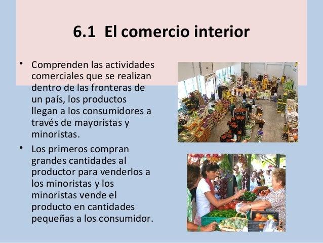 Unidad 10 el sector terciario for Que es el comercio interior