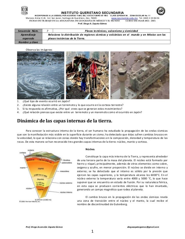 Secuencia 7   geografia- placas tectónicas