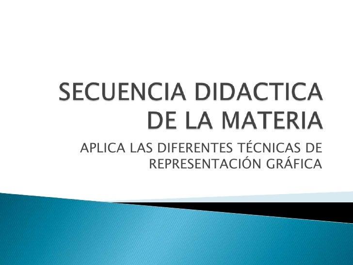 Secuencia didactica de la materia