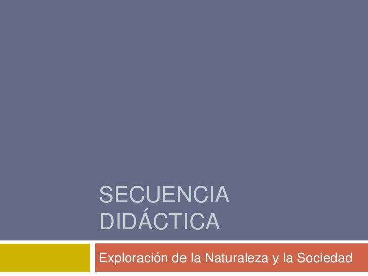 SECUENCIADIDÁCTICAExploración de la Naturaleza y la Sociedad