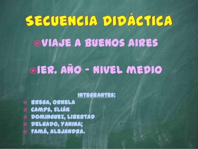 Secuencia didáctica Sede Venado Tuerto MT 1. Grupo 3