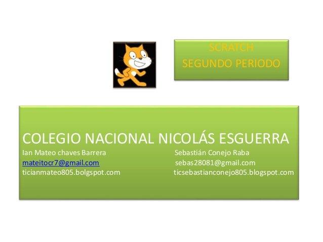 COLEGIO NACIONAL NICOLÁS ESGUERRA Ian Mateo chaves Barrera Sebastián Conejo Raba mateitocr7@gmail.com sebas28081@gmail.com...