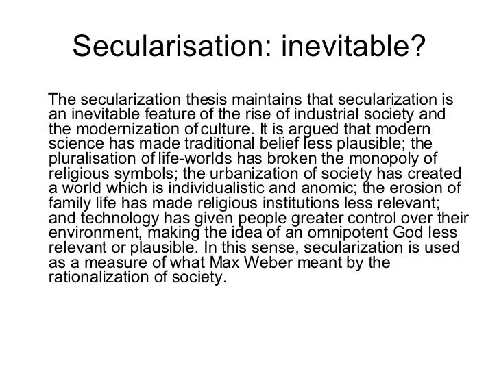 the secularization thesis