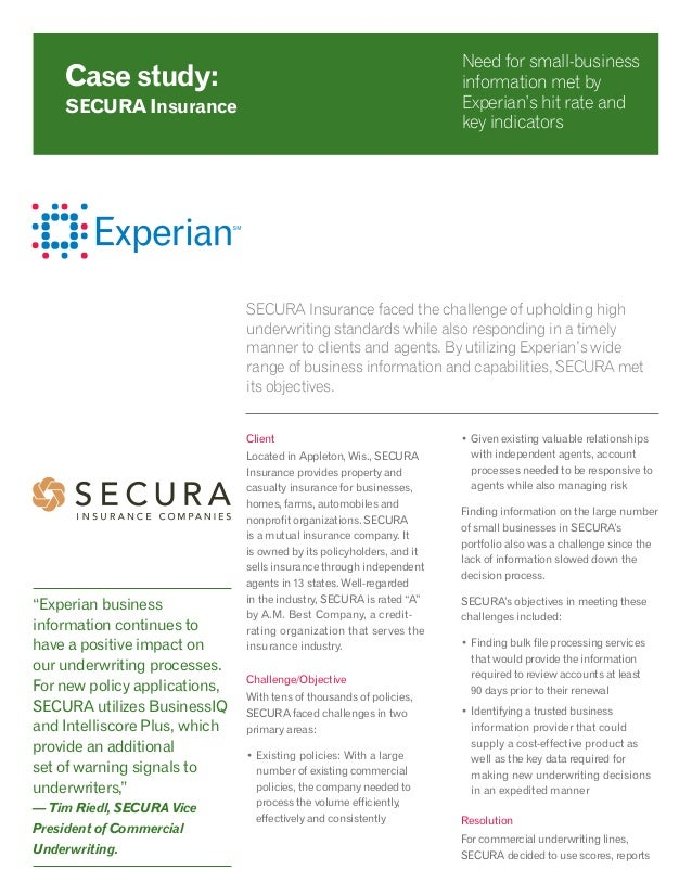 SECURA Insurance faced the challenge of upholding high underwriting standards while also responding in a timely manner to ...