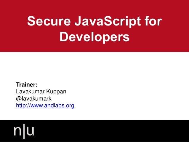 Secure java script-for-developers