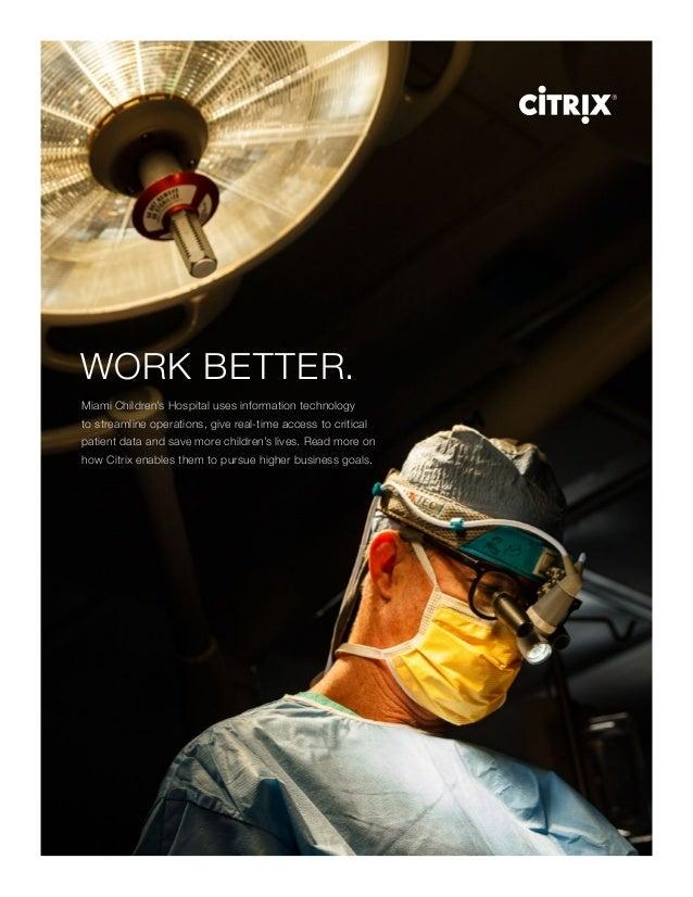 Citrix - Secure mobility-miami-childrens-hospital-brochure