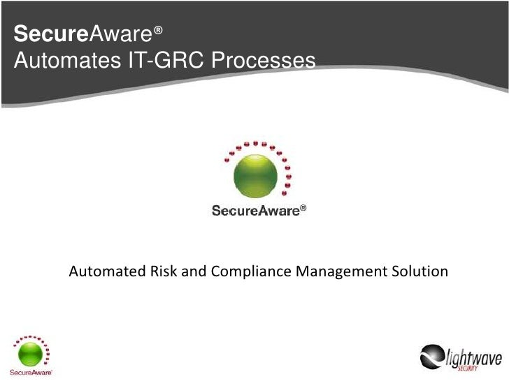 SecureAware®Automates IT-GRC Processes<br />Automated Risk and Compliance Management Solution<br />
