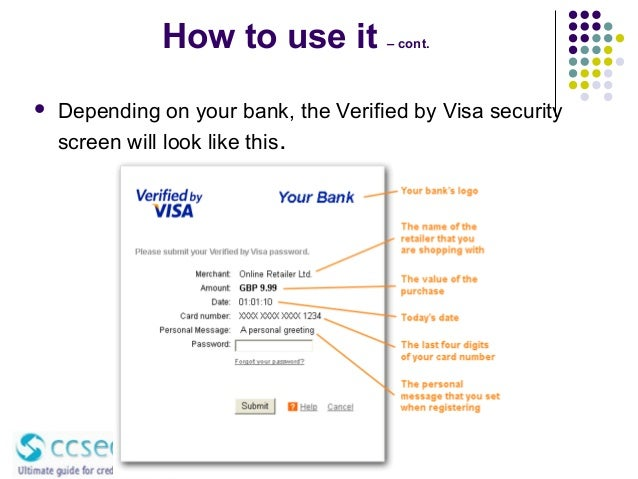verified by visa how to change password