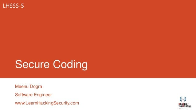 Secure Coding 2013