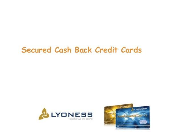 Secured Cash Back Credit Cards