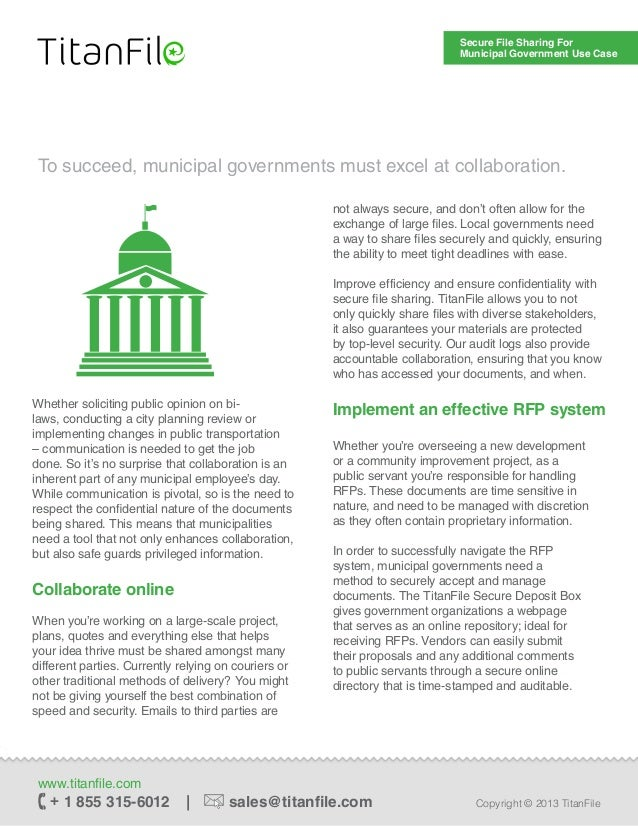 Secure File Sharing for Municipal Government Use Case