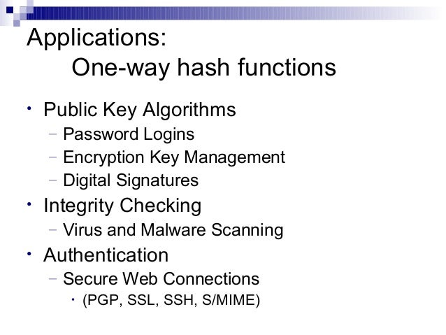 Cryptographic hash function - Wikipedia