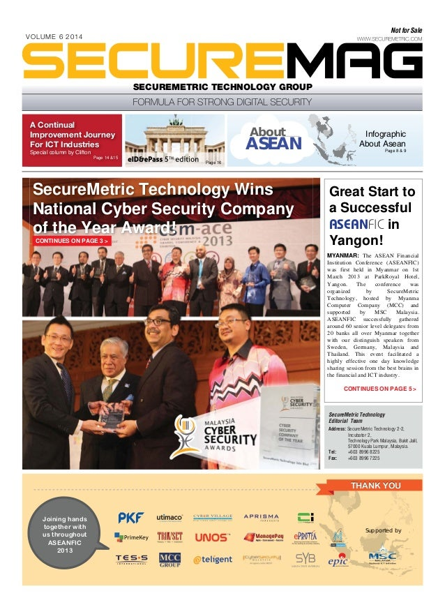 Not for Sale  VOLUME 6 2014  SECUREMETRIC TECHNOLOGY GROUP  A Continual Improvement Journey For ICT Industries  About  ASE...