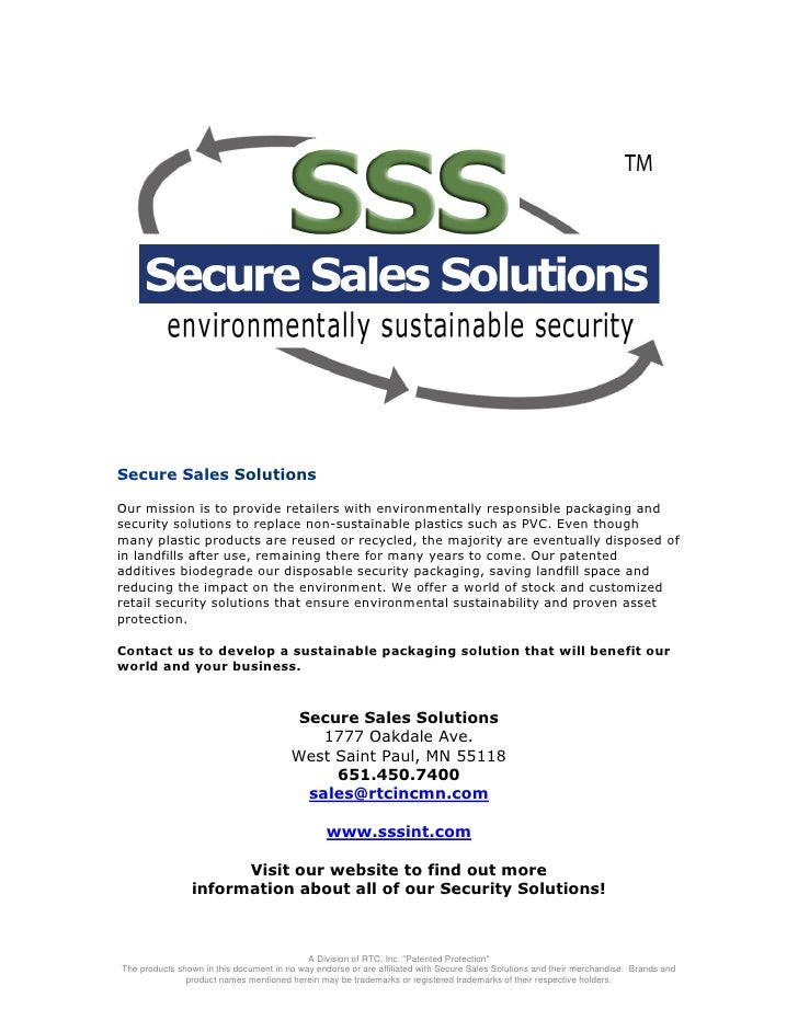 Secure Sales Solutions Catalog