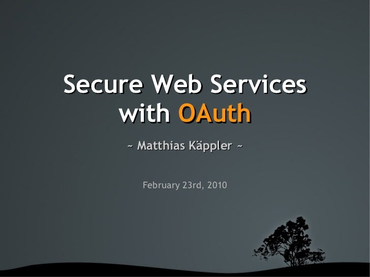 Secure Webservices