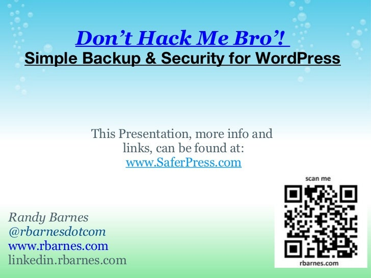 WordPress Security & Backup