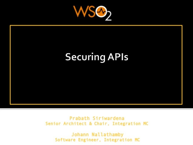 Securing APIs