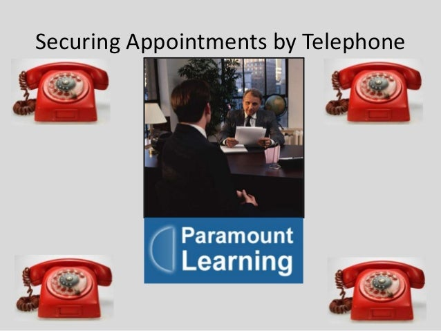 Securing appointments by telephone