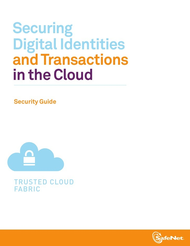 Securing Digital Identities and Transactions in the Cloud Security Guide